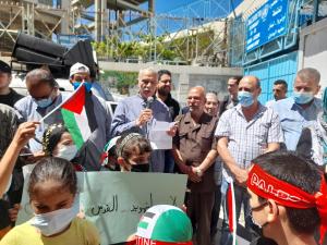 وقفة تضامنية في البداوي دعماً للاقصى وتضامنا مع الشعب الفلسطيني