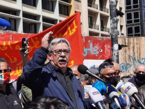 كلمة الأمين العام للحزب الشيوعي اللبناني حنا غريب في التظاهرة الشعبية