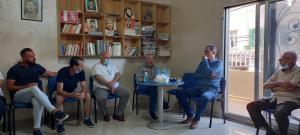 لقاء بين اتحاد نقابات عمال فلسطينوقيادة القطاع العمالي في الحزب الشيوعي اللبناني في منطقة صور